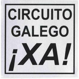 PEGATINA CIRCUITO GALEGO XA PLATEADA