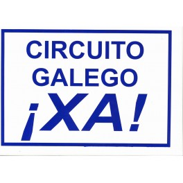 PEGATINA CIRCUITO GALEGO XA GRANDE CUADRADA