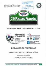 39º RALLYE CIDADE DE NARON 2016
