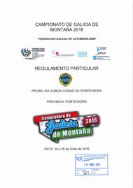 19ª SUBIDA CIDADE DE PONTEVEDRA 2016