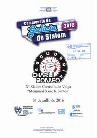 11º SLALOM CONCELLO DE VALGA 2016