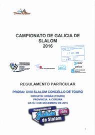 18º SLALOM CONCELLO DE TOURO 2016