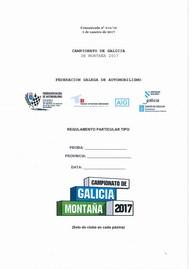 REGULAMENTO PARTICULAR MONTAÑA 2017