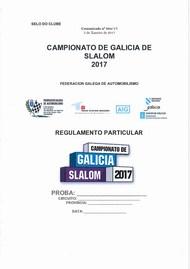 REGULAMENTO PARTICULAR SLALOM 2017