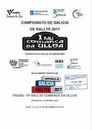 10º RALLYE COMARCA DA ULLOA 2017