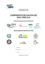 REGULAMENTO PARTICULAR RALLYMIX 2018