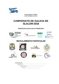 REGULAMENTO PARTICULAR SLALOM 2018