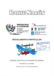 31º RALLYE CIDADE DE NARON