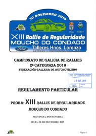 13º RALLYE REG MOUCHO DO CONDADO 2019