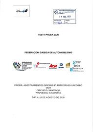 ADESTRAMENTOS OFICIAIS 8º AUTOCROSS XACOBEO